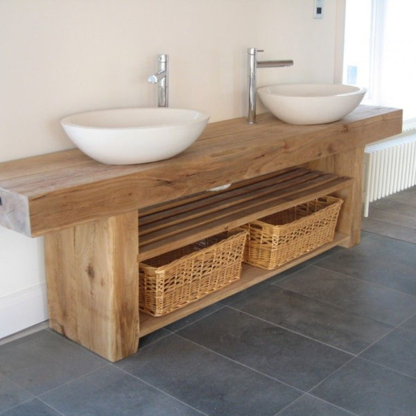Wooden Bathroom Vanity Units Image Of
